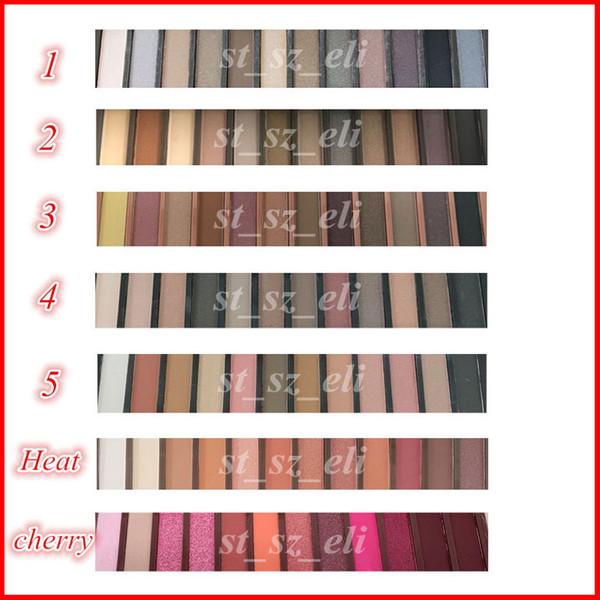 Face makeup eye hadow 12 color eye hadow palette with bru h moky matte nude 12color eye hadow 1 2 3 4 5 heat cherry