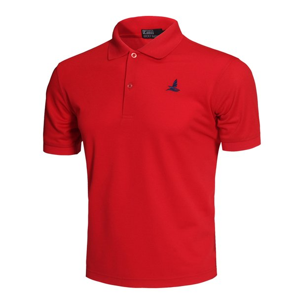 Best Selling New Classic Fashion Golf Polo Shirt Red Men Summer Breathable Quick Dry Sport Short Sleeve Sportswear Workout Cotton T-shirt