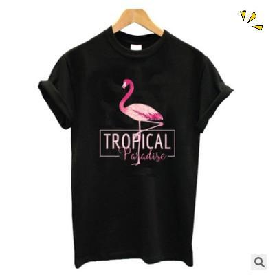 Мужские дизайнерские футболки TROPICAL фламинго летние хлопковые футболки с короткими рукавами доступны в 6 цветах Размер XS - XXL роскошная футболка женская