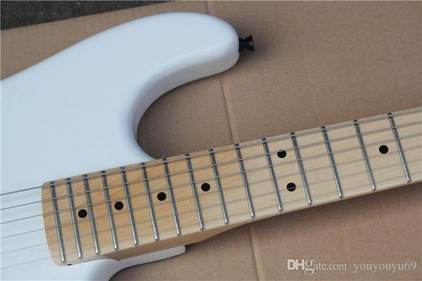 Atacado Branco Floyd Rose Guitarra Elétrica com Captador Humbucker, Akçaağaç, Ferragens Pretas, oferecendo serviços kişiselleştiricileri