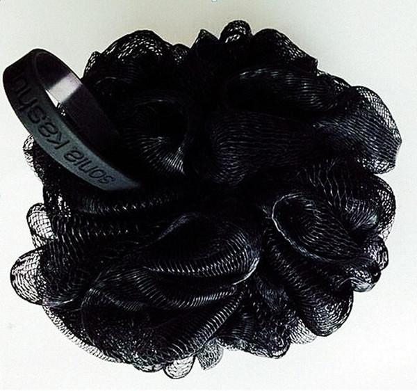 Wholesale-New 4pcs Black Bath ball Men's Bath Sponge Black Bath Flower For Man bathroom accessories bathroom products banheiro