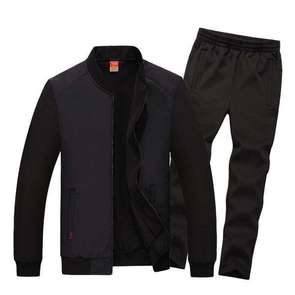 Spring Autumn Men Sportswear Sweatsuits Zip Up Jacket Sweatshirt+pant Male Casual Jogging Running Workout Outfit Set Sport Suit