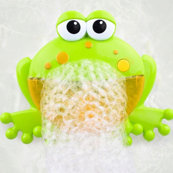 Frog Bubble Maker Bath Toys Cute Animal Bubble Maker Toys Music Bathtub Kids Bathroom Newborn Water Toys Baby Gift