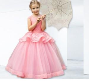 1pcs Girls stitching wedding princess dress baby girl dresses Ball Gown Party princess Dresses tutu pleated dress children Clothing