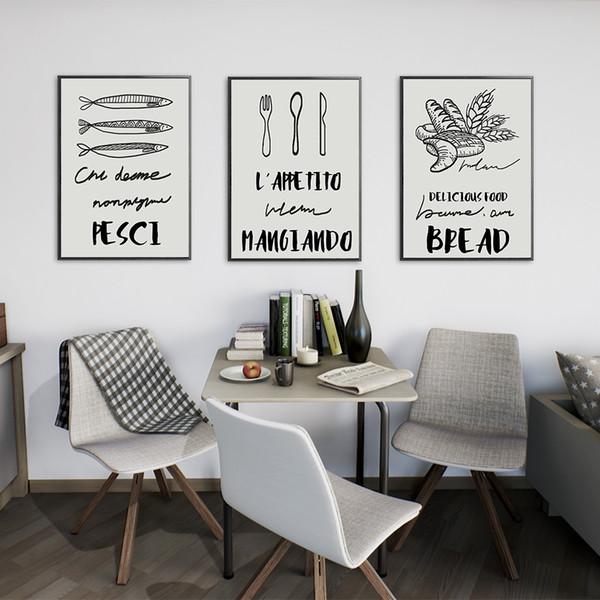 Acquista Posate Poster Home Decor Wall Art Murale Senza Cornice Astratta  Pittura A Olio Sfondo Murale Su Tela Home Decor Parete Cucina A $8.39 Dal  ...