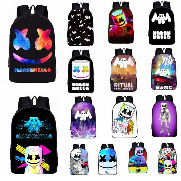 24styles Marshmello DJ bambini Sacchetto di scuola zaino studente per ragazze ragazzi adolescenti bambini cool bookbag bambini borsa FFA1712