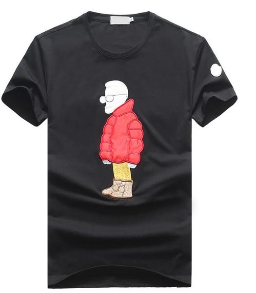 2019 высокое качество хлопка футболка шею дышащая мода вышивка LOGOM с коротким рукавом мужская футболка лето тройник