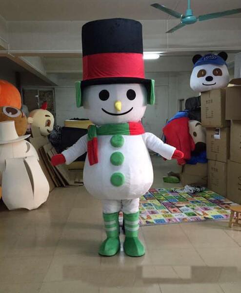 2019 magasins d'usine matériau bonhomme de neige costume de mascotte marche cartoon de vêtements