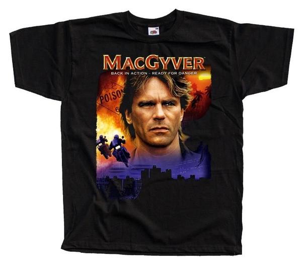 MacGyver V7, R.D Anderson, Poster, TV-Serie, T-SHIRT (SCHWARZ) alle Größen S bis 5XL Jersey T-Shirt mit Print