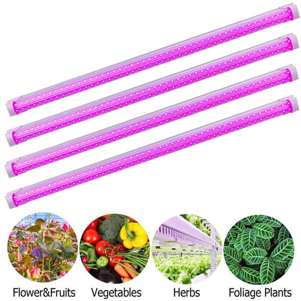 Full Spectrum LED Grow Light LED Grow Tubes 380-800nm, 8Ft T8 V-Shaped Integration Tube, for Medical Plants and Bloom Fruit Pink Color