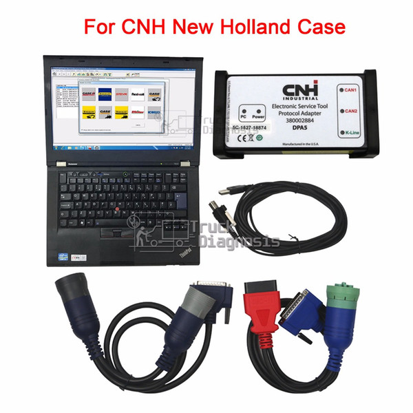 Diagnostic Kit CNH Est for New Holland Electronic Service Tool Agriculture tractor Engine Diagnostic scanner+T420 laptop