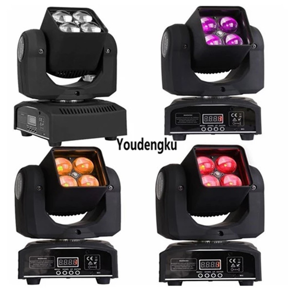 best selling 4pcs 4x10w 4 in 1 rgbw with dmx 512 Beam Wash Mini Moving Heads Projector zoom led movinghead light