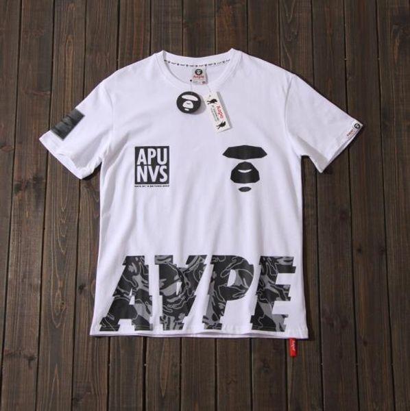 Diseñador para hombre camisetas marca de marea color sólido moda impresión camiseta letra impresión algodón mangas cuello redondo casual camiseta