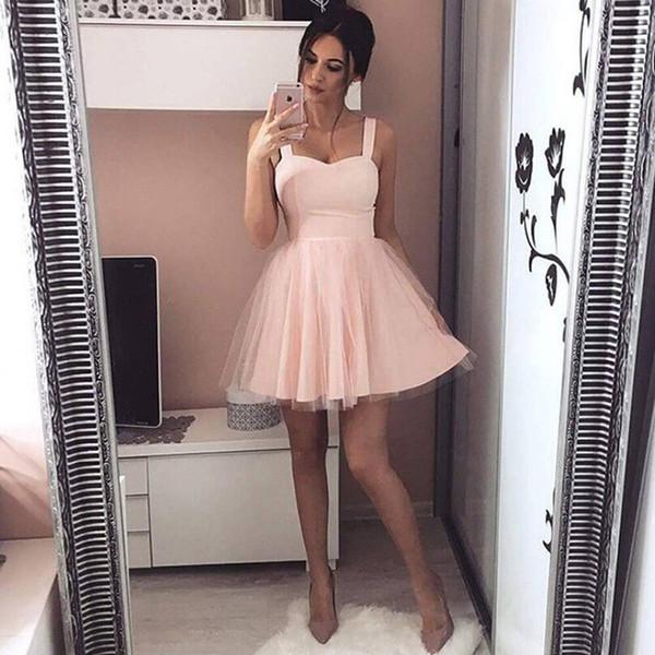 Moda de verano para mujer Correa sexy Sin mangas Fiesta de noche Vestidos de tul Vestido mini Vestido de fiesta Mujer Vestidos cortos
