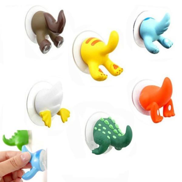 3 unids encantadora de dibujos animados de cola animal de goma lechón gancho de la llave titular de la suspensión ganchos ganchos ropa clave colgador de pared accesorios de cocina