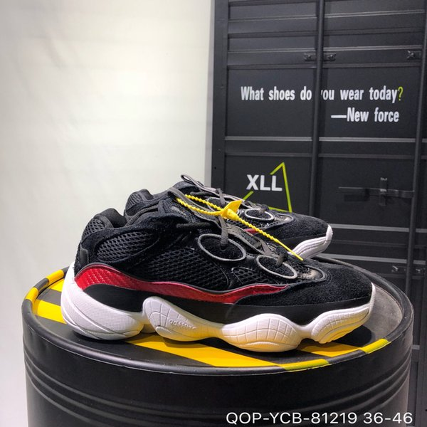cheaper 6c141 56422 2019YEEZYHot Kanye West 500 Desert Rat Blush 500s Salt Super Moon Yellow 3M  Utility Black Mens Running Shoes For Men Women Sports Snea From ...
