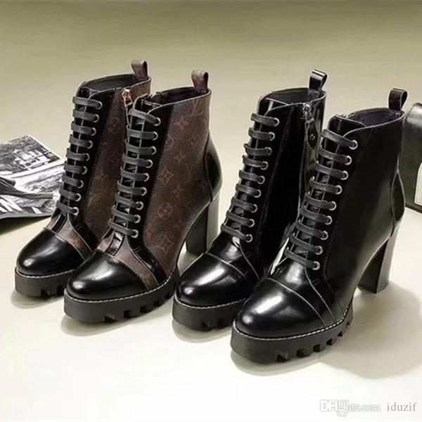 BEST Designer Womens Boots Fashion Short Leather Stitching Elastic Cloth Winter Boot Designer Womens