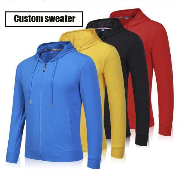 wholesale Outdoor team uniform advertising shirt hoodie custom printed logo long sleeve zipper hoodie culture shirt work clothes win