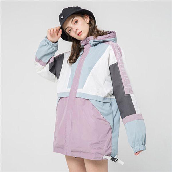 2019New Autumn Fall Winter Mens Womens Casual Outwear Jakcet Sport Jacket High Patchwork Tops Windbreakers Casual Windbreaker S-2XL B100109Q