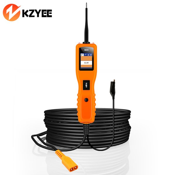 KZYEE KM10 12V PowerScan Car Circuit Tester Car Diagnostic Tool Electrical System Circuit Tester Voltage Current Tester