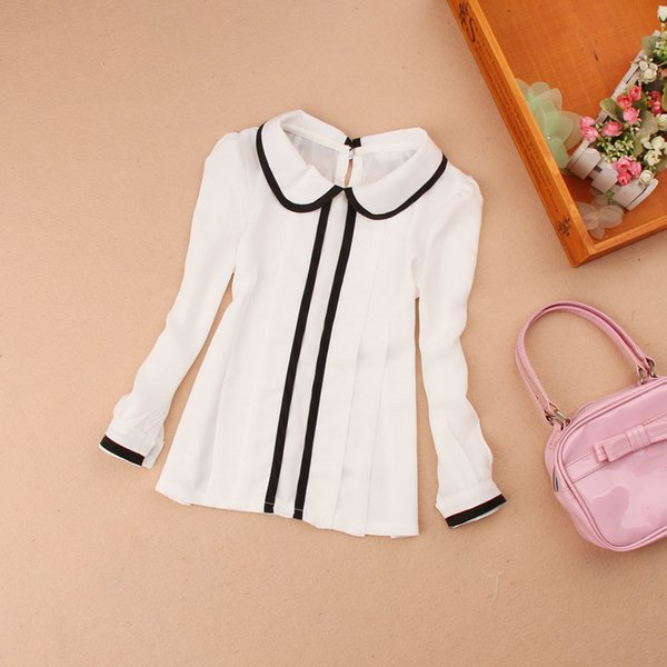 2017 autumn 2-16y children cotton long sleeve base shirt blouses school girl kids baby girls white blouse clothes jw0344 thumbnail