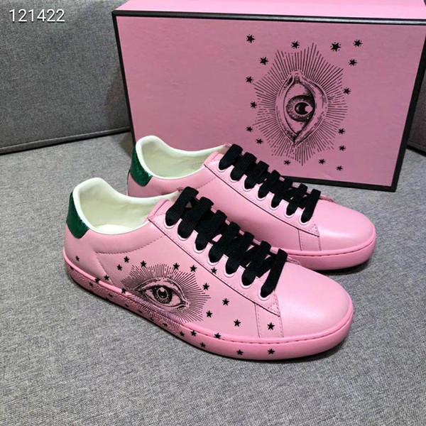 2019 couro de couro moda famosa sapatos casuais designer de mulheres e mulheres de treinamento sapatos casuais