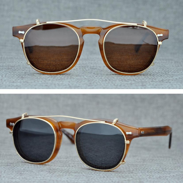 df6889d584 Brand Shades Moscot Lemtosh Eyewear Clip-on Polarized Sunglasses Men Women  Sun Glasses Eyeglasses Frames Optical Glasses with Original Box