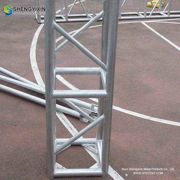Equipo de escenario 3M de diámetro iluminación giratoria circular Estructura de armazón de marco de aluminio de 300 mm * 300 mm / Espiga de aluminio de evento / Cercha de cerrojo