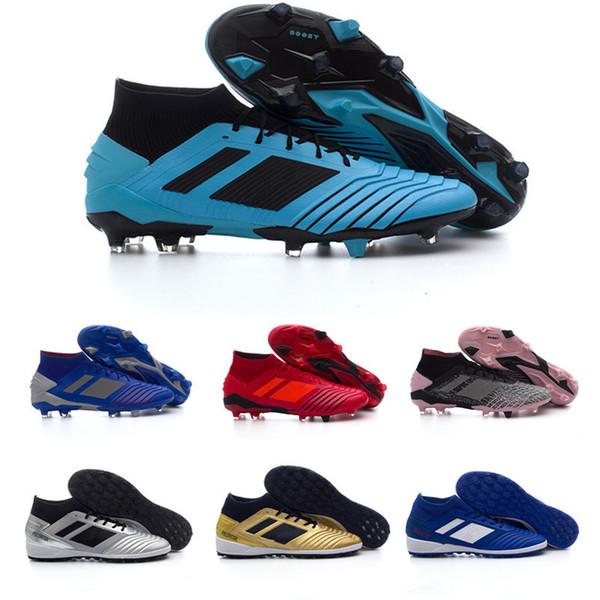 2019 Sale barato Predator 19,1 FG zapatos del fútbol del clavo por un hombre Negro de calidad superior cargadores del fútbol grapas de los deportes zapatillas de deporte los atléticos 36-45