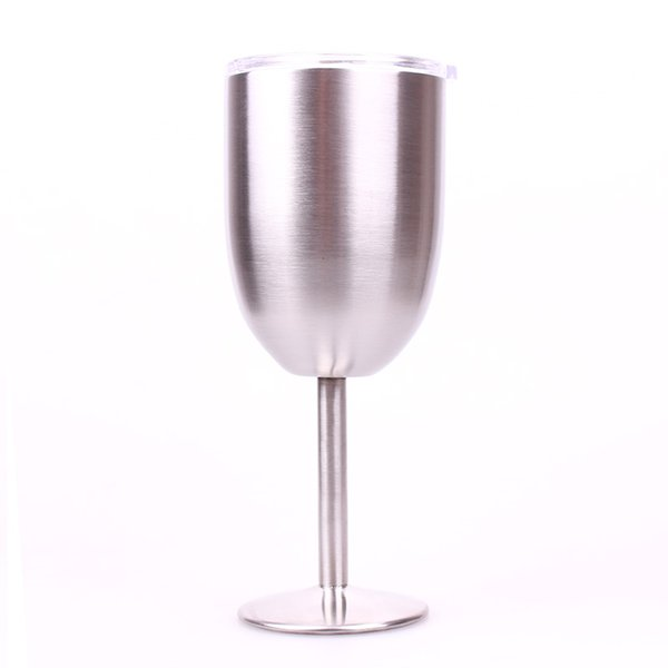Stainless Steel RTIC Style Wine Glass Cup Double Wall Insulated Metal Goblet With Lid Tumbler Red Wine Mugs In Stock