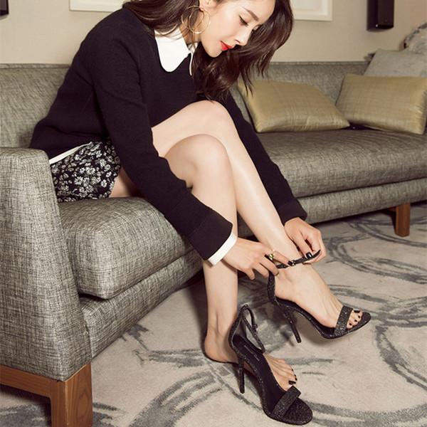Cool 2019 Xia Accueil Sandales Femme Merveilleuse Toe One Buckle Baida Summer femmes apporter des chaussures Amende