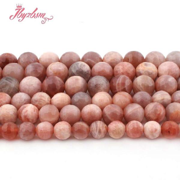 8,10,12mm Perles Rondes À Facettes Multicolore Sunstone Perles En Pierre Naturelle Pour DIY Collier Bracelet Fabrication De Bijoux 15