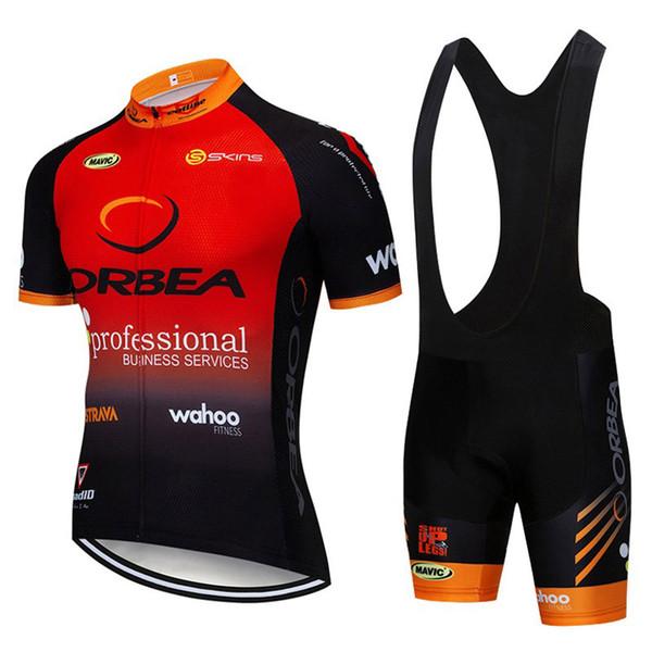 2019 orbea Quick Dry Respirável Ciclismo Jersey conjunto de manga Curta dos homens da bicicleta Da Estrada Desgaste Da Bicicleta Da Competência Roupas sportswear ao ar livre 122508Y