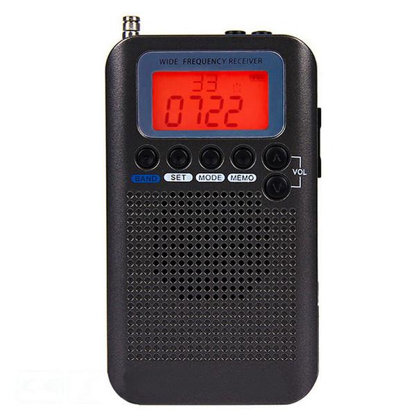 Demodulatore digitale radio a banda intera HRD-737 FM / AM / SW / CB / Air / VHF Radio portatile stereo a banda mondiale con display LCD Sveglia n. 5