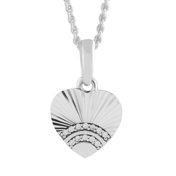 Été Argent 925 Bijoux Forme De Coeur Amour Cristal Glamour Bijoux Femme Bracelet DIY Amour pendentif charme