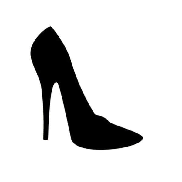 17*15.5cm WOMEN FASHION HIGH HEEL SHOE Decal Sticker Car Truck Motorcycle Tall White Beauty Temptation Body Car Stickers Decals