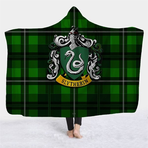 Harry Potter Nap Blankets Hooded Cap Letters Printed Cloak For Kids And Adults Winter Blanket popular Hot Sale