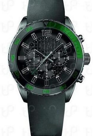 Orologio cronografo quadrante nero 1512847 Cassa in acciaio cinturino in pelle nera Movimento al quarzo Orologio da uomo + scatola originale