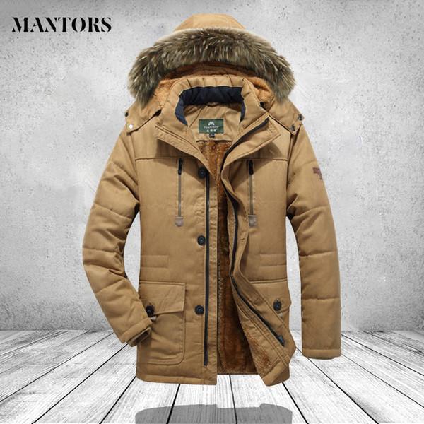 Thicken Parkas Men Winter Warm Casual Hooded Windbreaker Windproof Jacket Mens Clothing Plus Size 5XL 6XL 7XL Long Overcoat Male