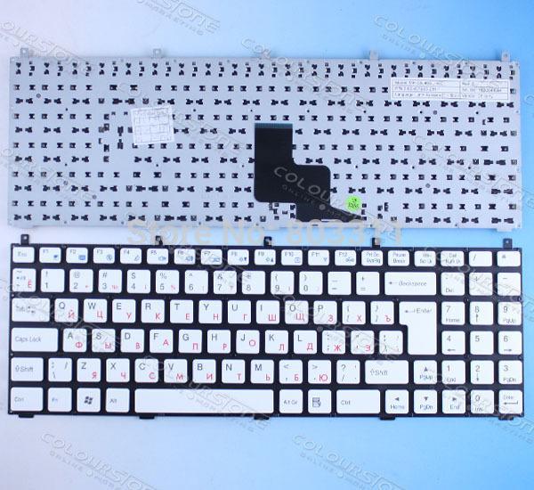 Clavier d'ordinateur portable russe pour Casper W765S DNS 0123975 MP-08J46SU-4301 6-80-W76S0-281-1 Clavier d'ordinateur portable CLEVO PHILCO 15A SIM2000