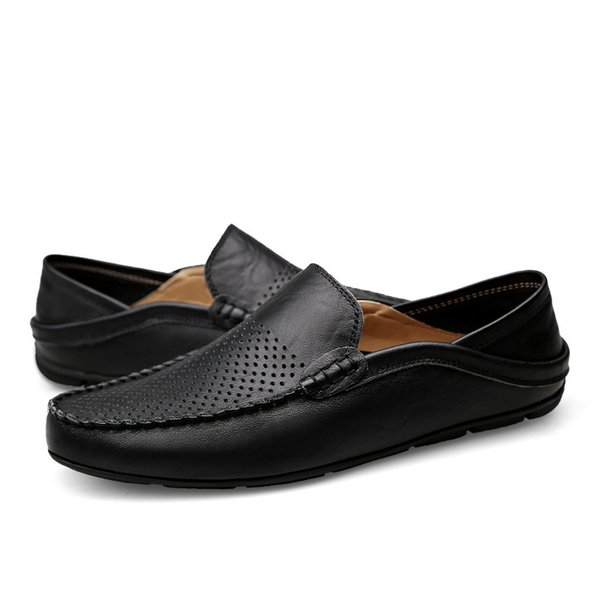 Männer Wohnungen Kleid Bootsschuhe Männer Sommer Mode Lässig lederstiefel männer Atmungsaktiv Männliche Schuhe Slip on Herrenschuhe Mesh Turnschuhe
