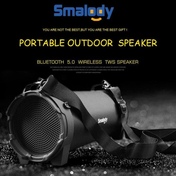 Wireless Powerful Sports Speakers Radio Mp3 Player For Iphone Tablets Black Outdoor Portable Subwoofer Column Bluetooth Speaker