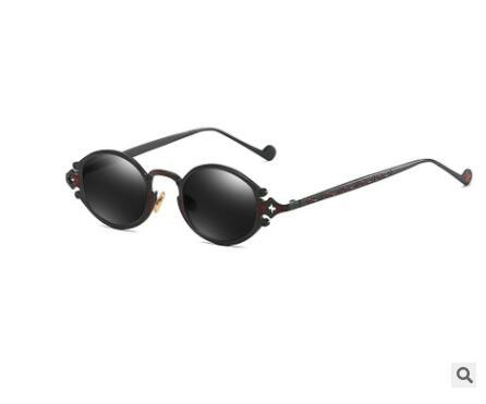 New 2019 vintage Steampunk Hip-hop Steampunk Hip-hop Embed Into Ins Sunglasses