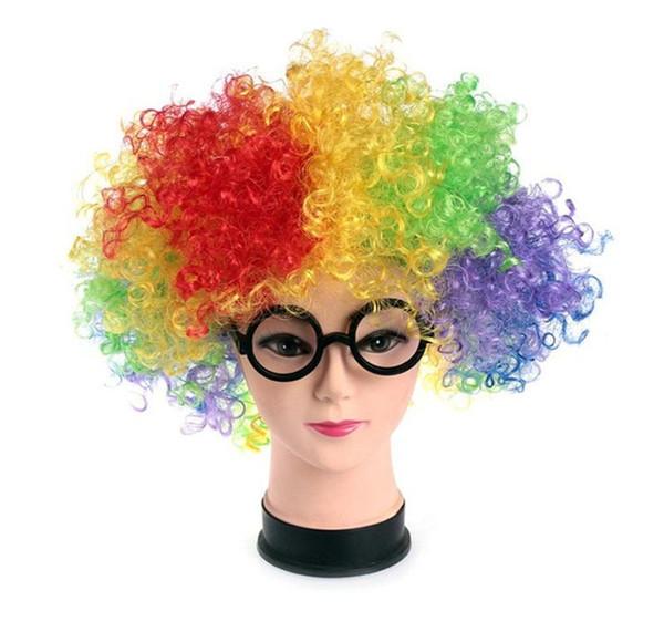 Prom Occhiali divertenti Cornice rotonda Bambino Occhiali di plastica Ragazzo e ragazza Clown Eseguire la resistenza degli occhiali alla caduta 4 46rx C1