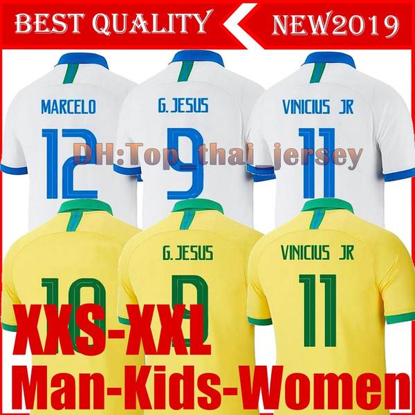 Brasil American Cup soccer jerseys Brazil MEN women Kids 19 20 JESUS COUTINHO FIRMINO MARCELO football kit shirt camisa Football Shirt