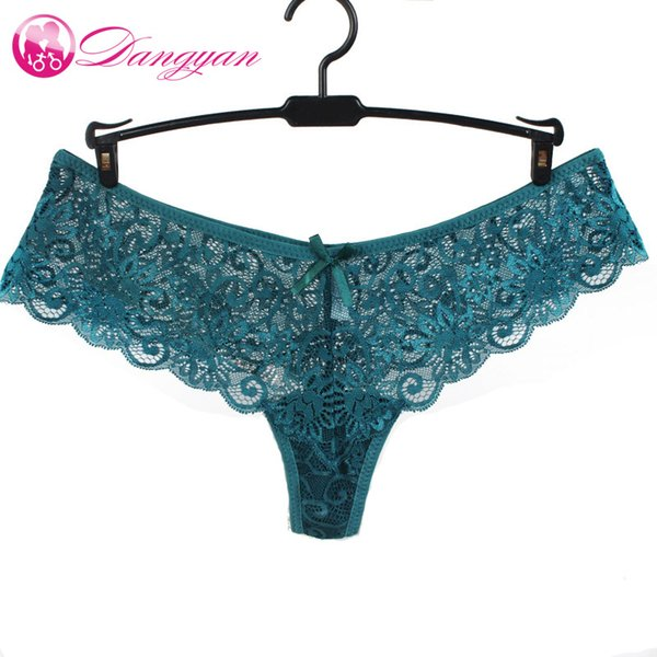 2019 Hot Women G- String Mutandine di pizzo pieno T-back Perizoma Slip trasparenti Donna Intimo morbido Slip traspiranti lingerie