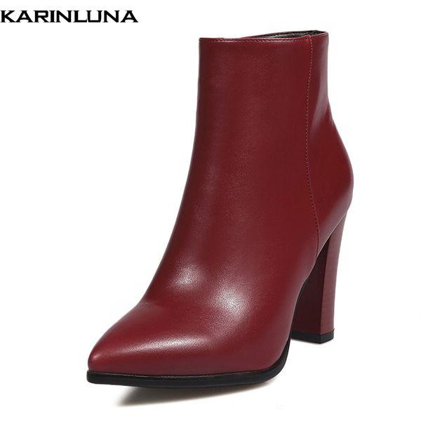 Elegant Grandes Nouveaux Acheter Pointees Arrivés Lady Hautes Bureau Women Bottes Chaussures Karinluna Tailles Bottines Femme Shoes Talons De 43 Yb76ygvf
