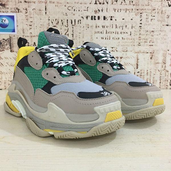 Hot Paris Triple-S Designer De Luxo Sapatos Low Top Sneakers Triplo S Homens e Sapatas Das Mulheres Sapatos Casuais 7dgs