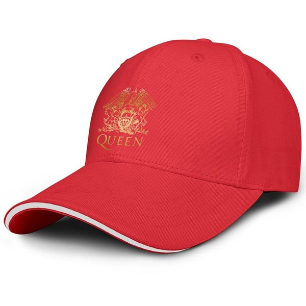 Men's Women's Queen Band Freddie Mercury Shirt, Queen British Rock Band Hoodie Snapback Flat Cap Printed Cotton Mesh Caps Adjustable Fits A