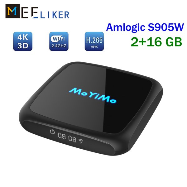Newest Android 8.1 tv box MoYiMo Quad Core Amlogic S905W 2GB 16GB wireless Better mxq pro x96 mini smart IPTV media box